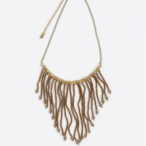 Noonday Mirage Beaded Gold Copper Necklace